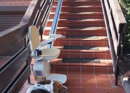 Zdjęcie po montażu windy schodowej Acorn Out