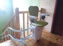 Krzesełko schodowe z torem łamanym