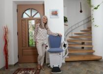 Krzesełko schodowe Alfa z torem krętym dopasowane do kształtu Twoich schodów